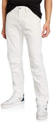G Star G-Star Men's 5622 Zip-Trim Skinny Jeans, White