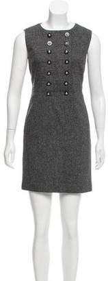 Tory Burch Tweed Sleeveless Dress