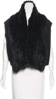 Marc by Marc Jacobs Fur-Trimmed Wool Vest w/ Tags