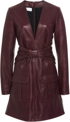 Victoria Beckham Victoria Bow-Detailed Leather Mini Dress