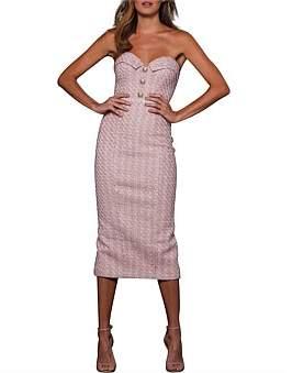 Elle Zeitoune Structured Tweed Dress