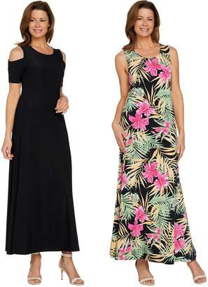 Women With Control Attitudes by Renee Regular Solid & Printed Set of 2 Dresses