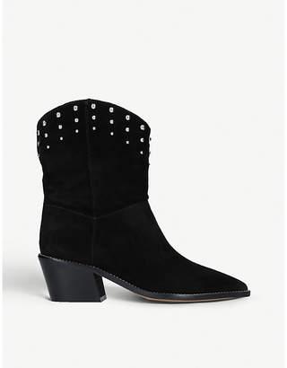Carvela Salt suede western boots