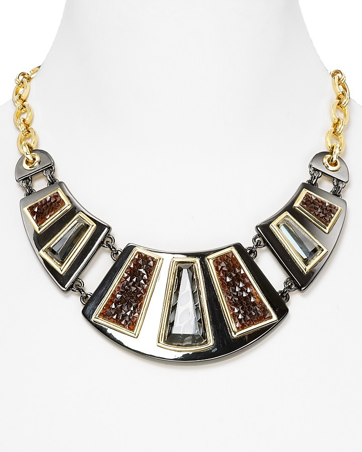 Carolee Lux Runway Ready Full Frontal Bib Necklace, 18