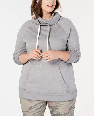 Planet Gold Derek Heart Plus Size Cowl-Neck Hoodie