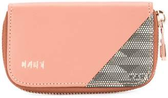 K/A/R/T panelled zipped wallet