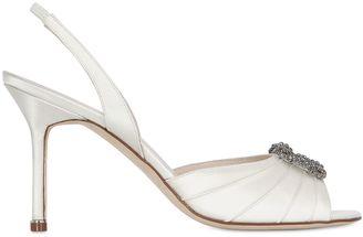 90mm Cassia Satin Sandals