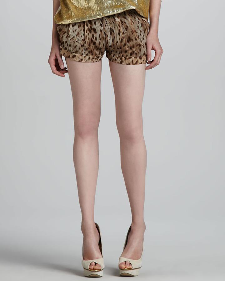 Haute Hippie Leopard-Print Shorts
