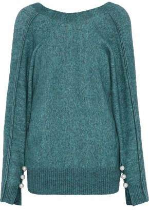 3.1 Phillip Lim Faux Pearl-Embellished Mélange Wool-Blend Sweater