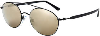Giorgio Armani AR6038 Black Round Sunglasses