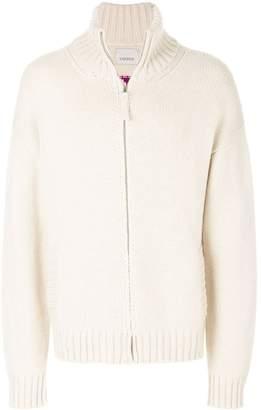 Laneus zipped knitted sweater