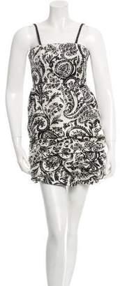 Alice + Olivia Paisley Gathered Silk Dress