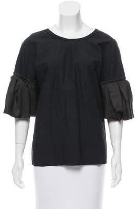 Lanvin Lace-Up Oversize Top