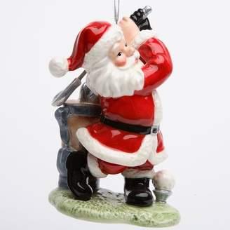 The Holiday Aisle Santa Playing Golf Hanging Figurine