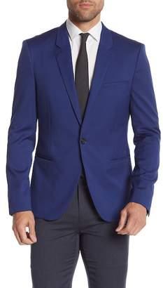 BOSS Alisey Notch Collar Wool Coat