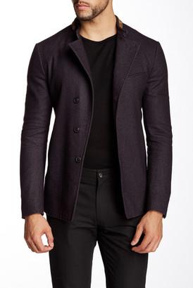 John Varvatos Collection Collar Braiding Jacket $1,598 thestylecure.com