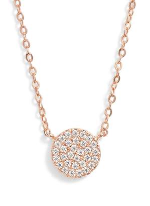 Nordstrom Pave Disc Pendant Necklace