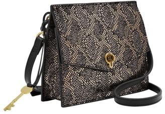 Fossil Stevie Small Crossbody Handbags Silver Metallic