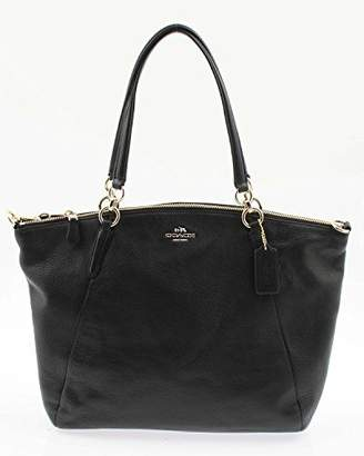 Coach Kelsey Pebbled Leather Satchel F36591 IMBLK