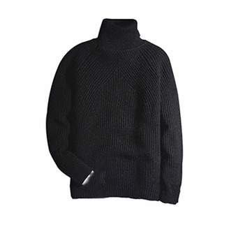 451f64bf9c50 Friendshiy Sweater Man 2019 Winter Thick Turtleneck Mens Pullover Sweaters  Casual Crocheted Striped Knitted