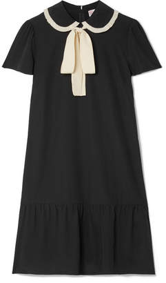 bow balloon sleeve mini dress - Black Red Valentino Cheap Sale Lowest Price ROEZRJcmsl