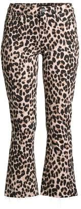 Paige Colette High-Rise Leopard Kick Flare Jeans