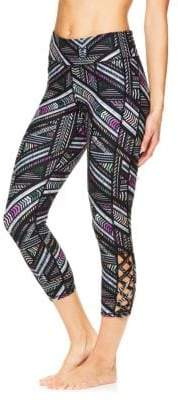 Gaiam Shilo Printed Crisscross Capri Leggings