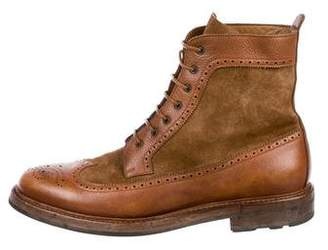 Ralph Lauren Moatlands Leather Wingtip Boots