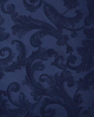 "Sferra Plume Jacquard 90"" Round Tablecloth"