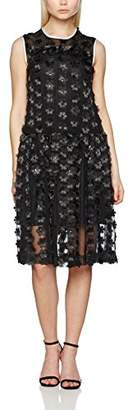 Peter Jensen Women's Ruffle Dress Skirt, (Black), (Size:Large)