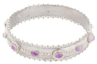Armenta Sugilite, Quartz & Diamond Bangle