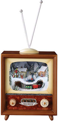 Roman Holiday Musical Vintage TV Figurine with Rotating Train