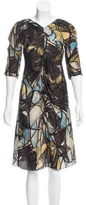 Marni Satin Printed Dress