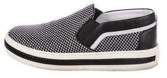 Sergio Rossi Woven Zip-Trim Sneakers