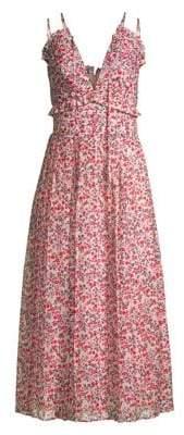 Robert Rodriguez Women's Cayana Pleated Midi Dress - Vine Floral - Size 8