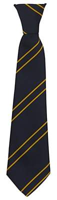 Unbranded St John's Walham Green CE Primary School Unisex Elasticated Reception Tie, Black/Yellow