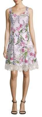 Donna Ricco Floral-Print Sleeveless Fit-&-Flare Dress