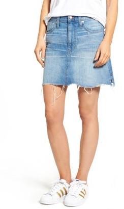 Women's Madewell Mccarren Raw Hem Denim Miniskirt $79.50 thestylecure.com