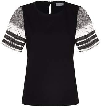 Claudie Pierlot Lace Sleeve T-Shirt
