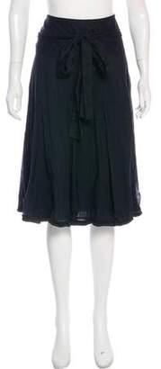 Burberry Braid-Trimmed Knee-Length Skirt