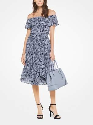 MICHAEL Michael Kors Jewel-Print Off-the-Shoulder Dress