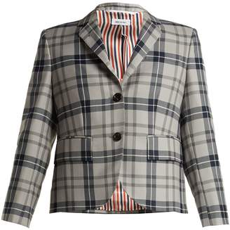 Thom Browne Tartan wool-blend blazer