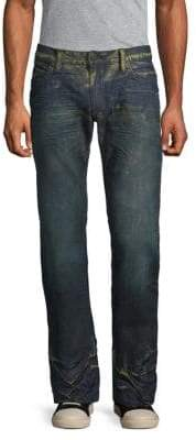 Long Flap Pocket Creased Jeans