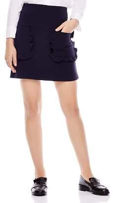 Sandro Achilee Ruffled-Pocket Skirt