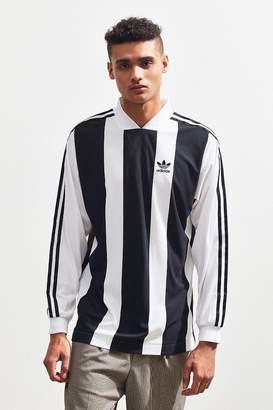 adidas B Side Striped Long Sleeve Soccer Jersey