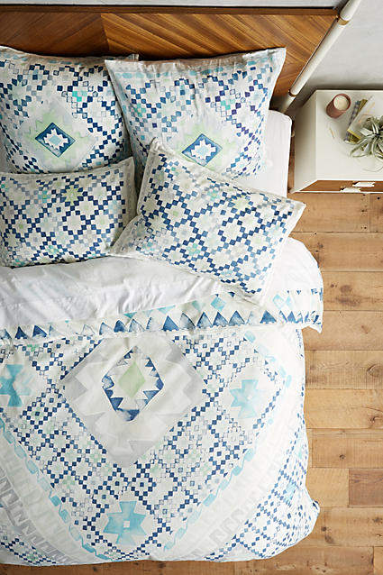 Anthropologie Anthropologie Quercus & Co. Emblem-Printed Duvet