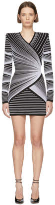 Balmain Black and White Optic Illusion Dress
