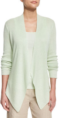 Eileen Fisher Angled-Front Organic Linen Jacket, Petite $278 thestylecure.com