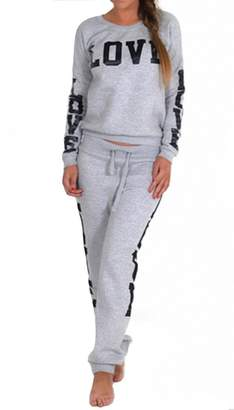 VIP Womens Riva Love Print 2 Piece Sweater/joggers Tracksuit (Inx)