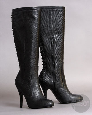 Rock and Republic Vandela Knee Boots in Python Black